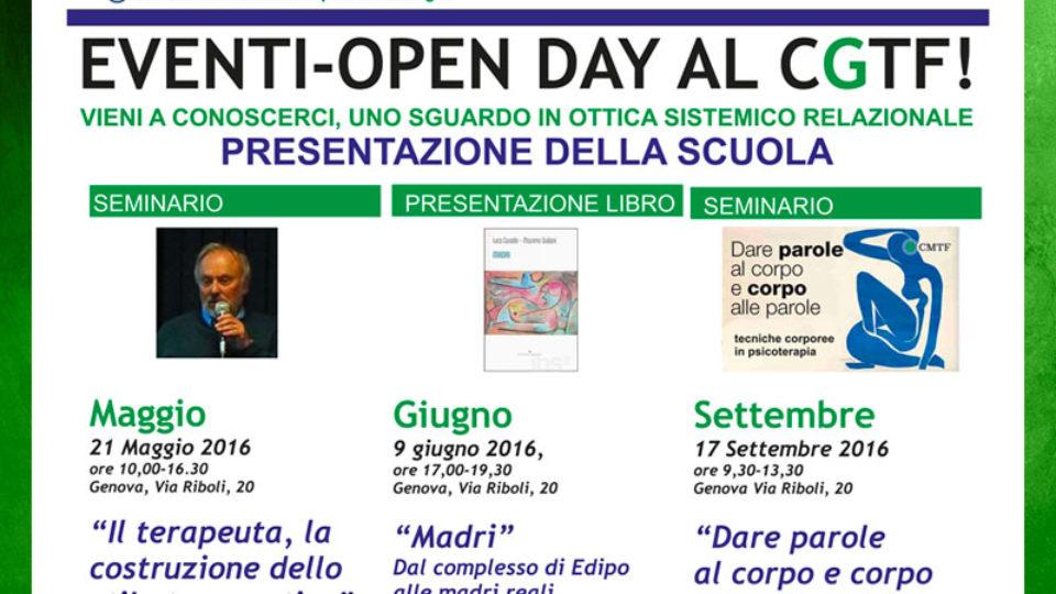 Open Day Centro Genovese di terapia della famiglia