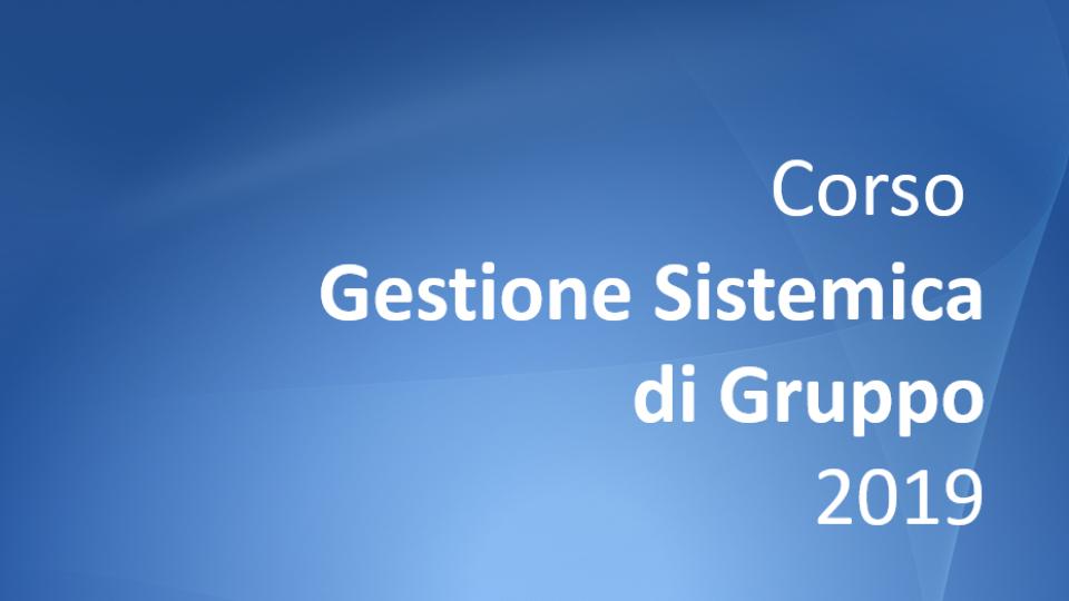 Corso Gestione sistemica di gruppo 2019