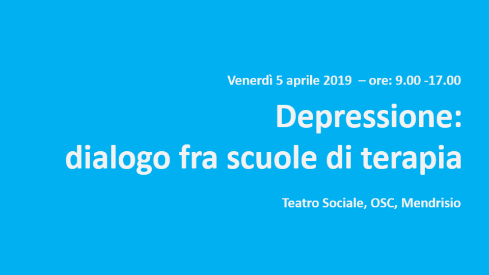 Depressione: dialogo fra scuole di terapia – Mendrisio