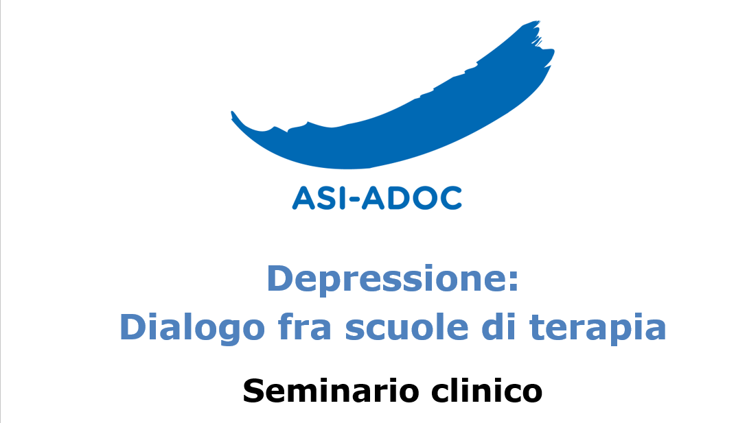 Depressione: Dialogo fra scuole di terapia Seminario clinico