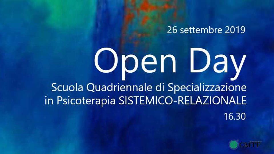Open Day Scuola Psicoterapia CMTF 26 settembre 2019