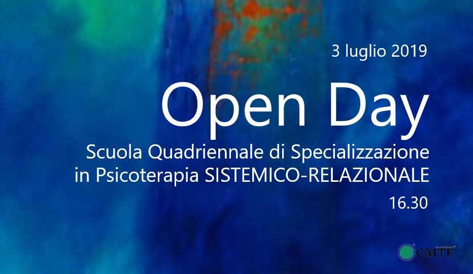 Open Day Scuola Psicoterapia CMTF 3 luglio 2019