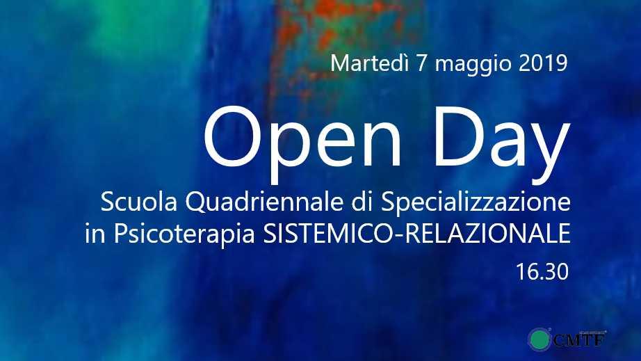 Open Day  Scuola Quadriennale di Specializzazione in Psicoterapia SISTEMICO-RELAZIONALEo-2019