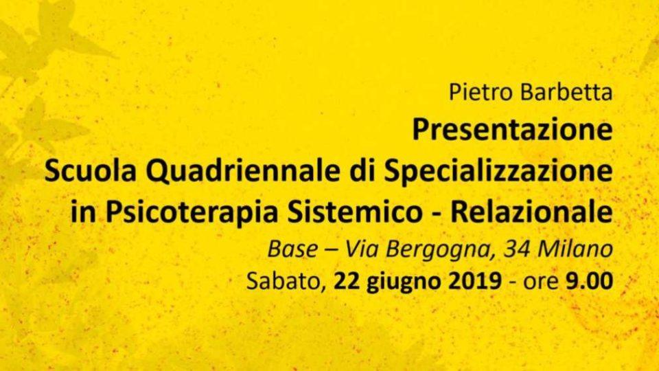 Presentazione Scuola Quadriennale di Specializzazione in Psicoterapia