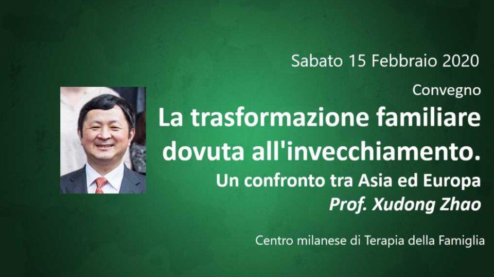 La trasformazione familiare dovuta all'invecchiamento. Un confronto tra Asia ed Europa Prof. Xudong Zhao