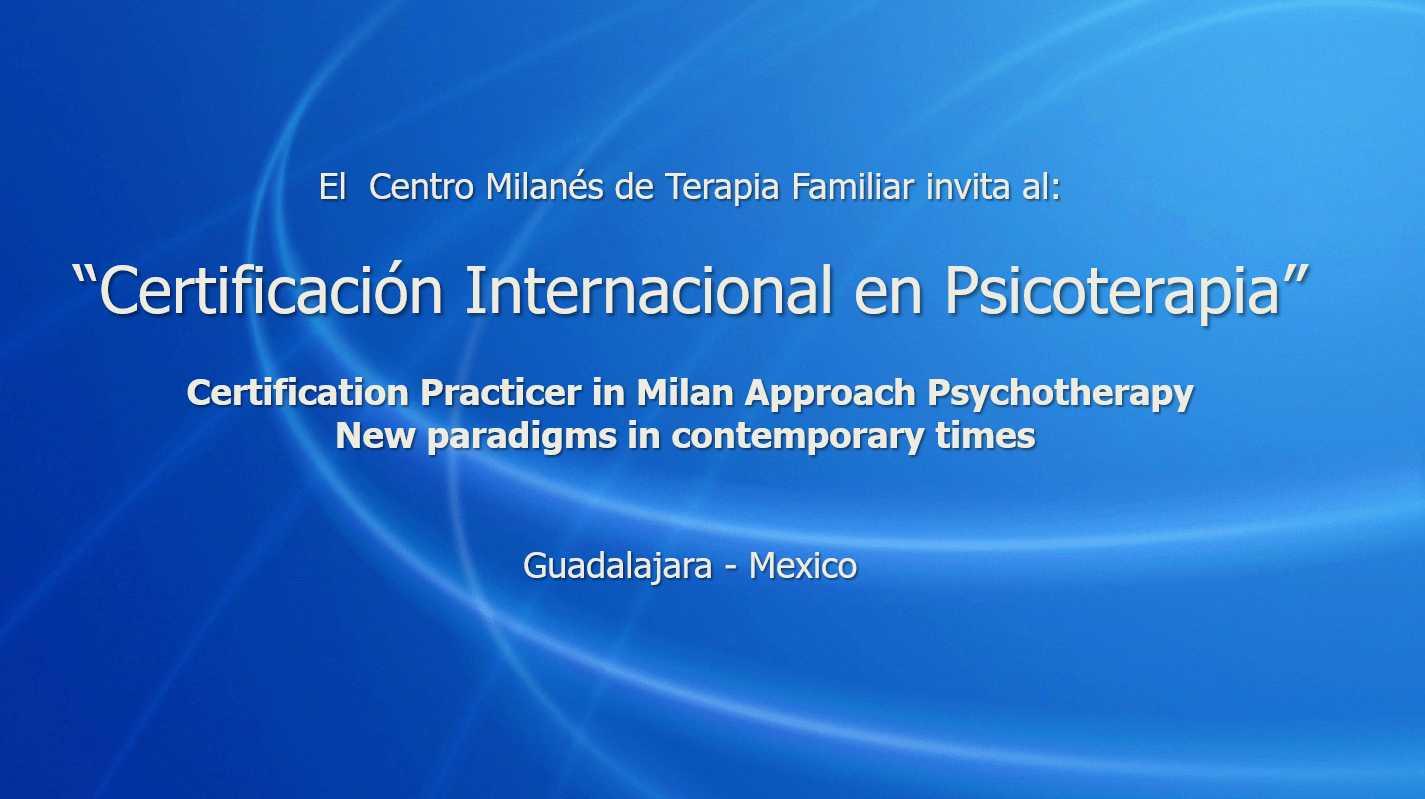 Certificación Internacional en Psicoterapia