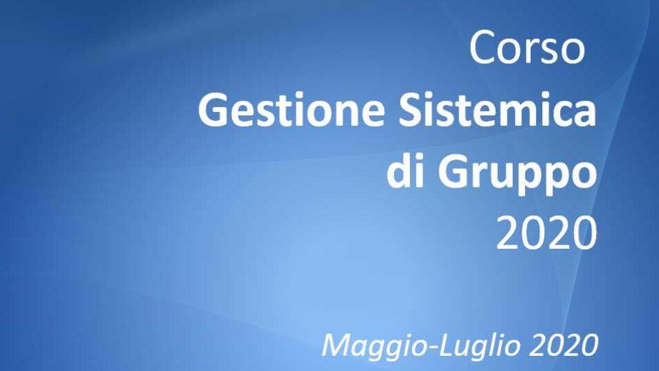 Corso Gestione Sistemica di Gruppo 2020